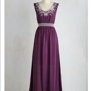 Up the Garden Path Dress in Plum in L